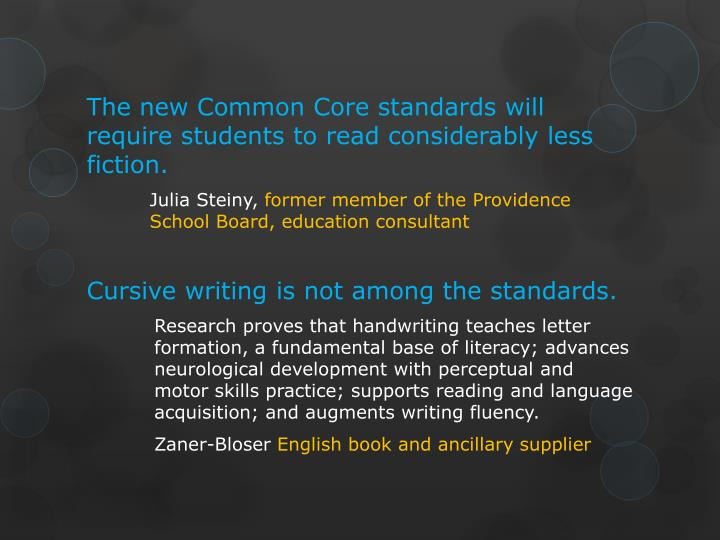 The new Common Core standards will require students to read considerably less fiction.