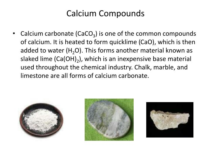 Calcium Compounds