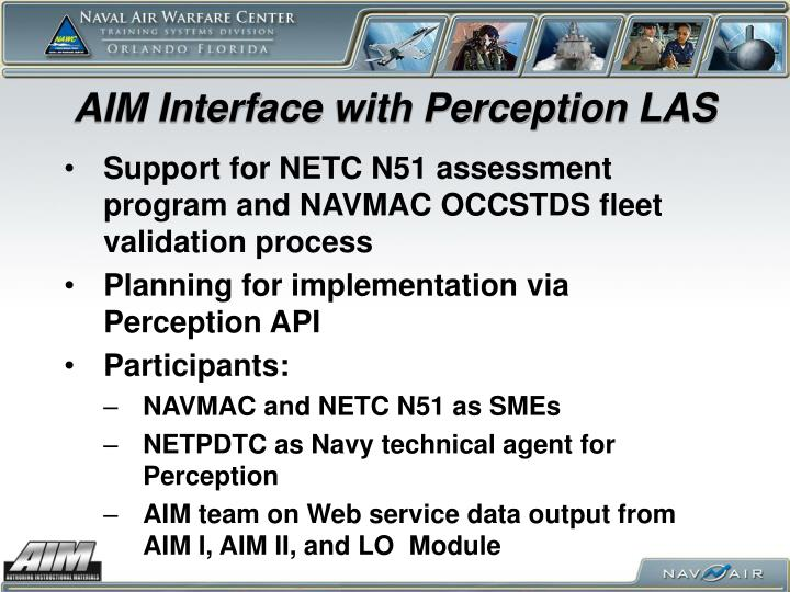 AIM Interface with Perception LAS