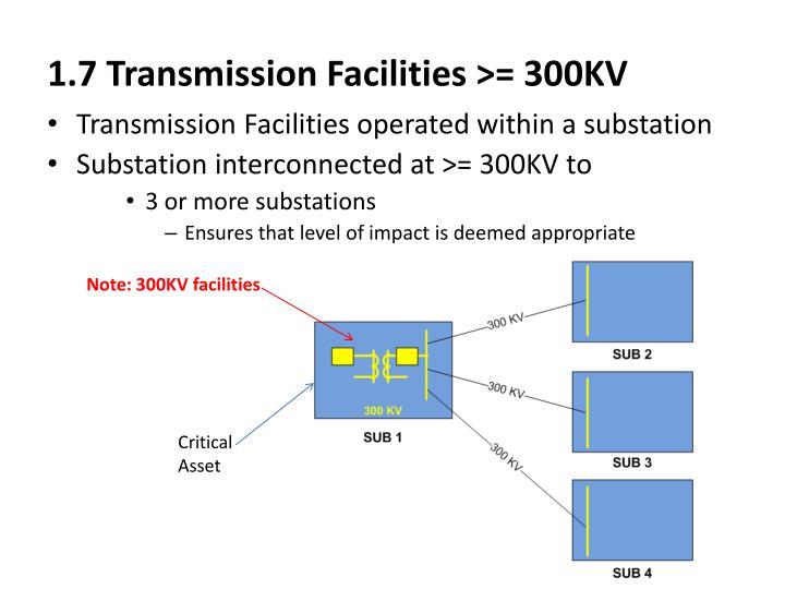1.7 Transmission Facilities >= 300KV