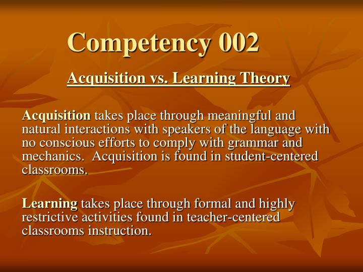 Competency 002