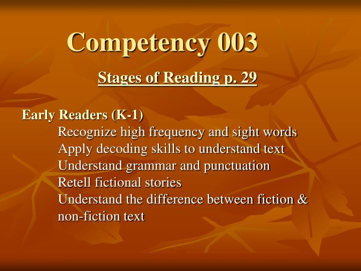 Competency 003