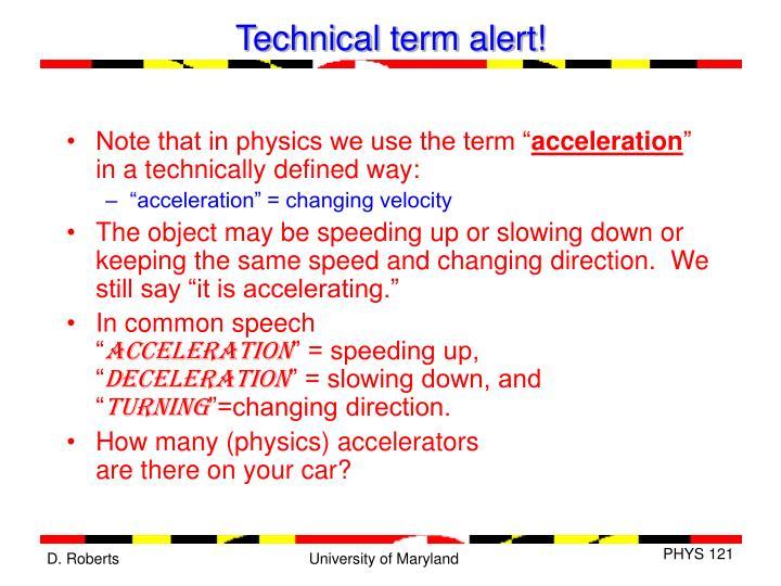 Technical term alert!
