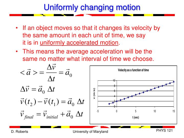 Uniformly changing motion