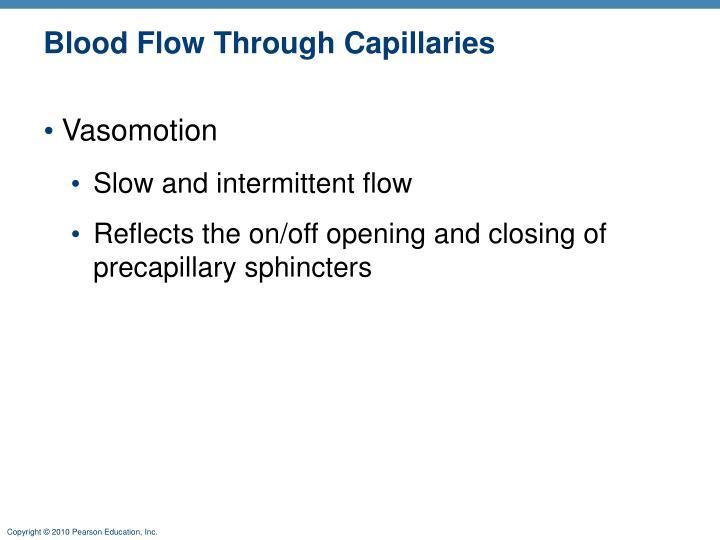 Blood Flow Through Capillaries