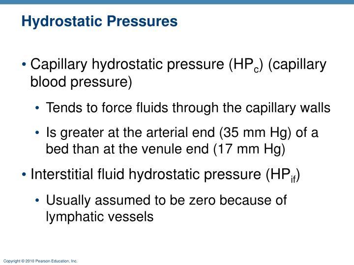 Hydrostatic Pressures