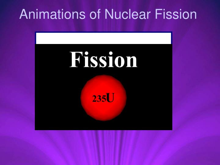 Animations of Nuclear Fission