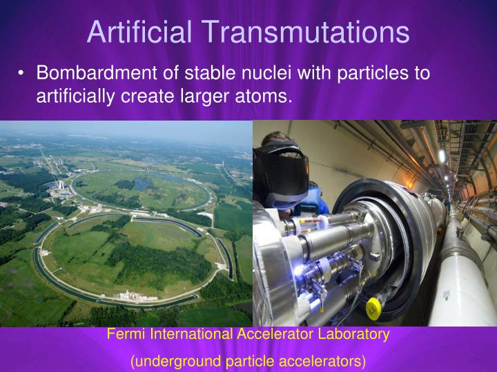 Artificial Transmutations