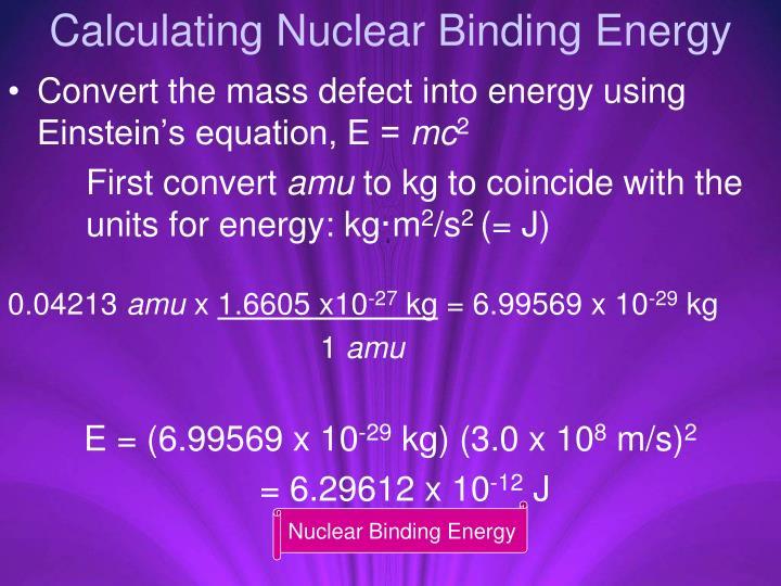 Calculating Nuclear Binding Energy