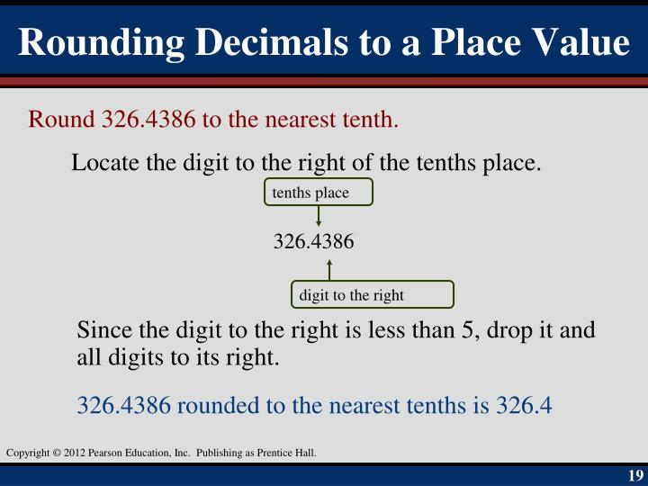 Rounding Decimals to a Place Value