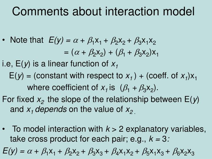 Comments about interaction model