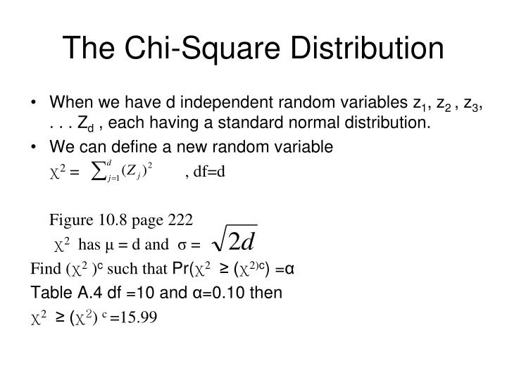 The Chi-Square Distribution