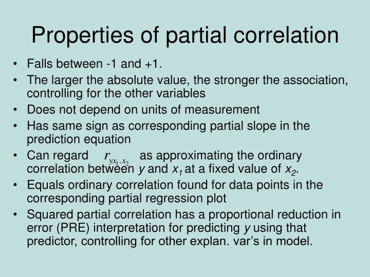 Properties of partial correlation