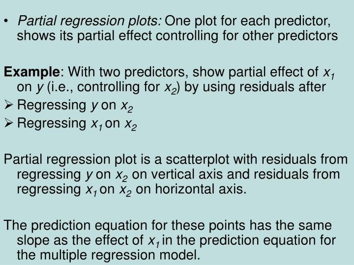 Partial regression plots: