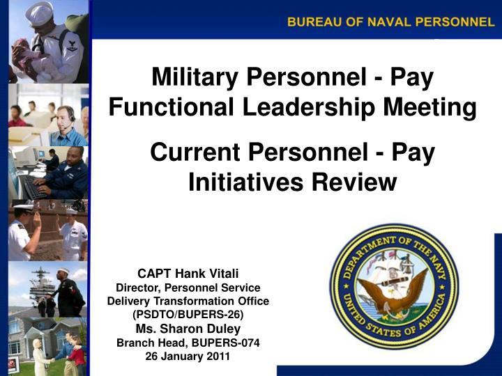 Military Personnel - Pay
