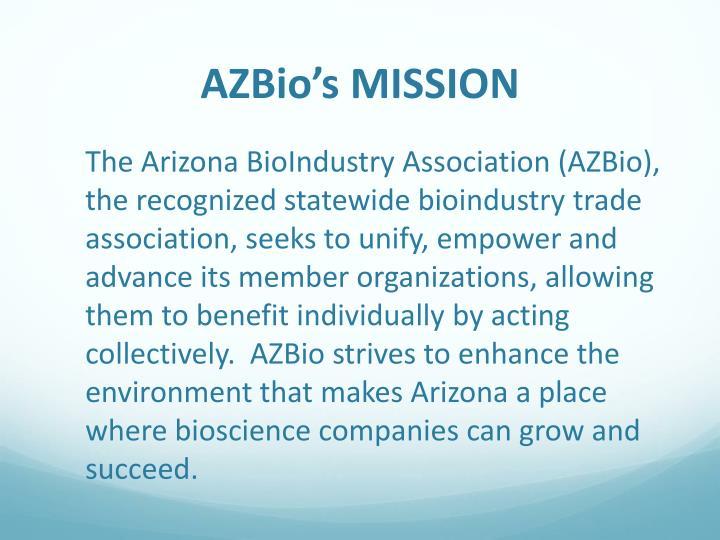 AZBio's MISSION
