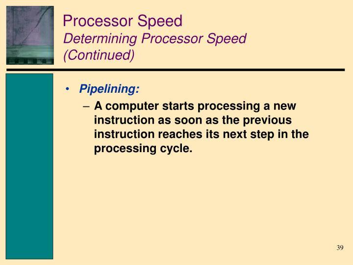 Processor Speed