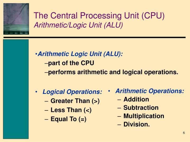 Logical Operations: