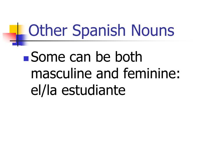 Other Spanish Nouns