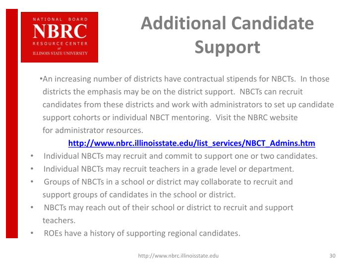 Additional Candidate Support
