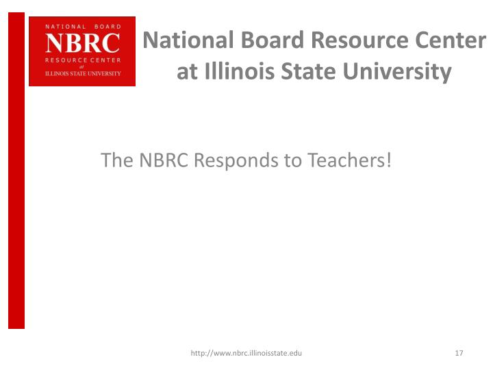 National Board Resource Center at Illinois State University