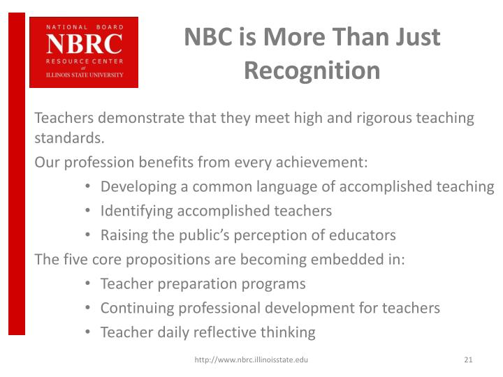 NBC is More Than Just Recognition