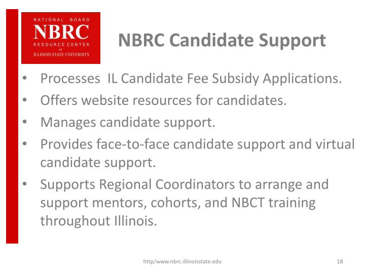 NBRC Candidate Support
