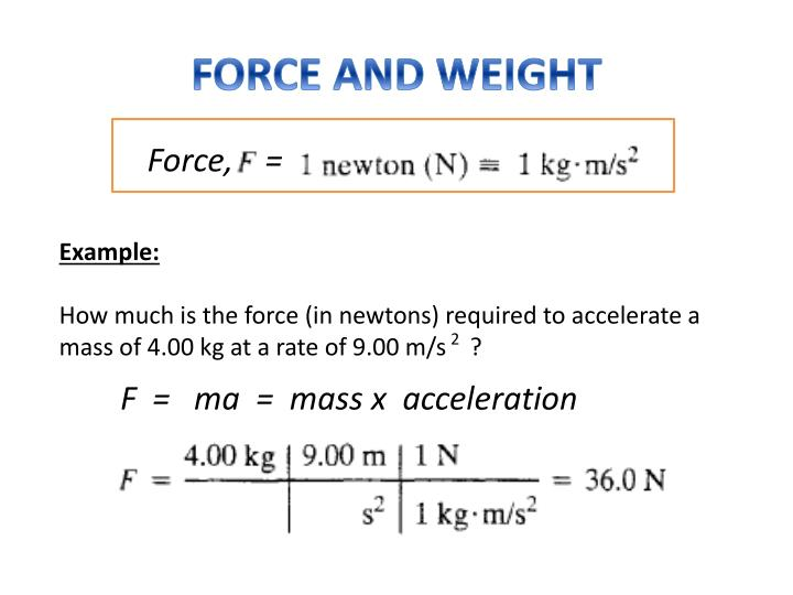 FORCE AND WEIGHT