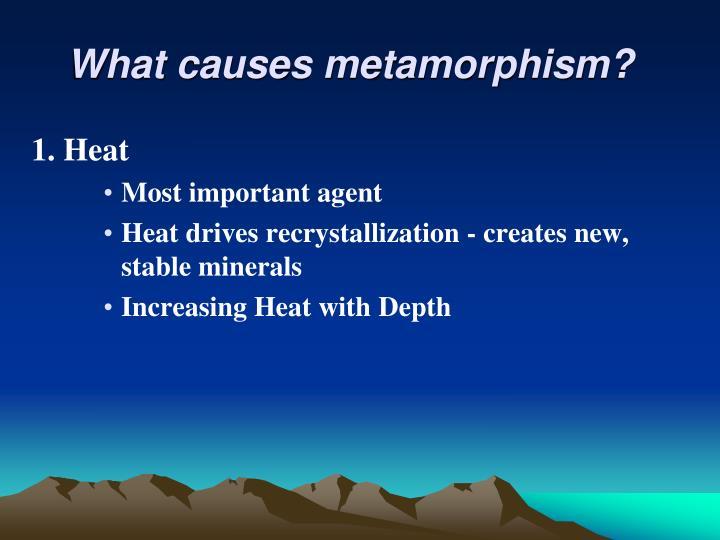 What causes metamorphism?