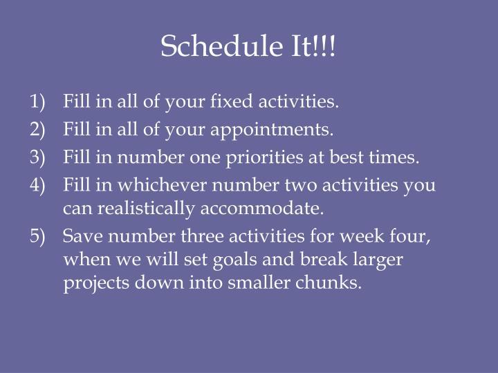 Schedule It!!!