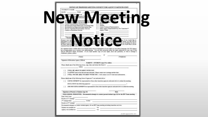 New Meeting Notice