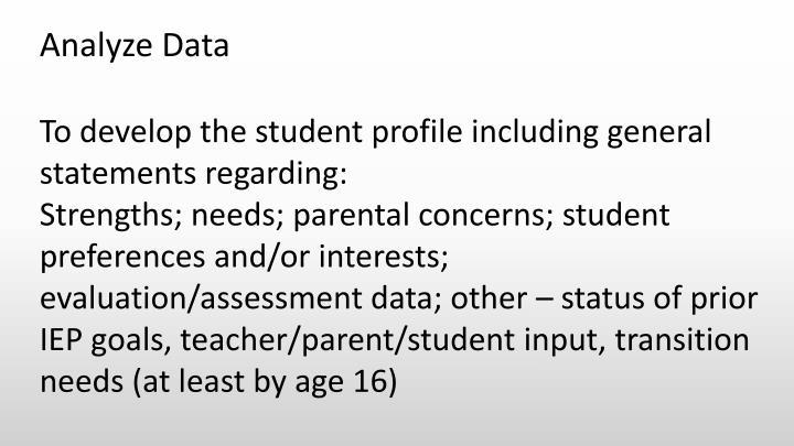 Analyze Data