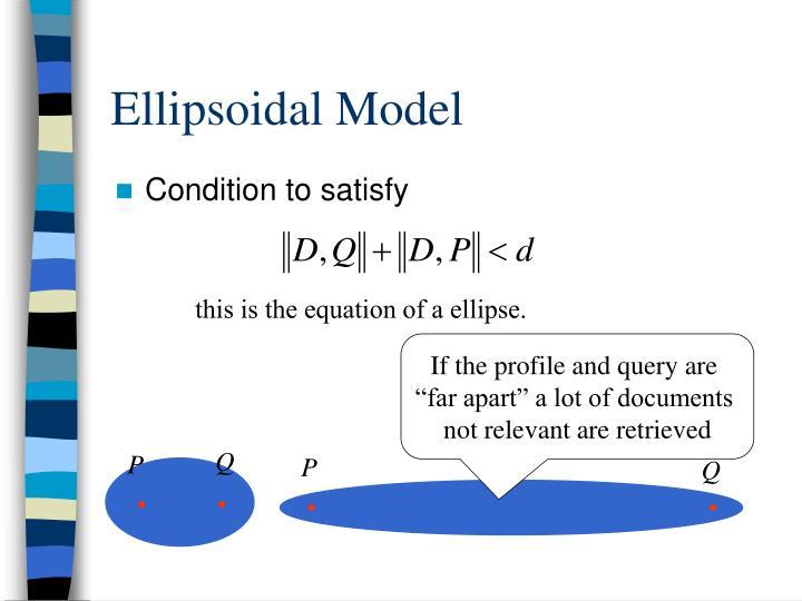 Ellipsoidal Model