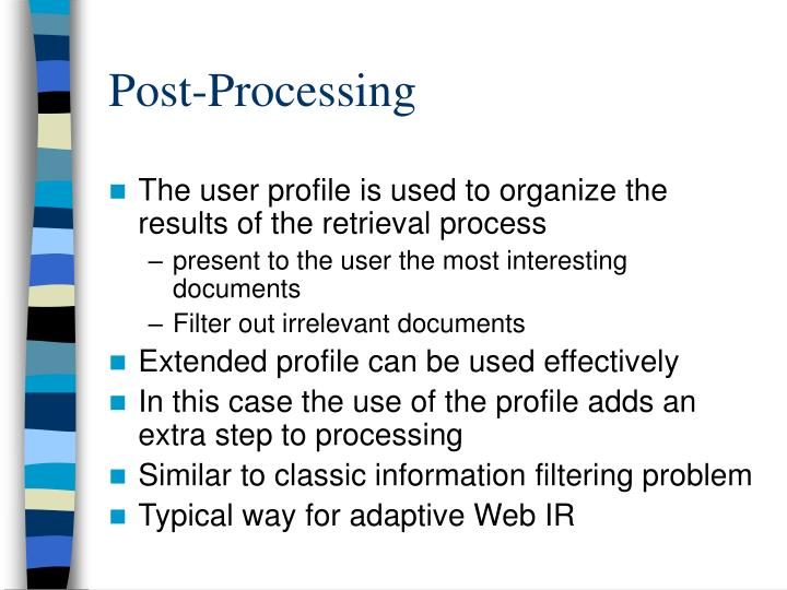 Post-Processing