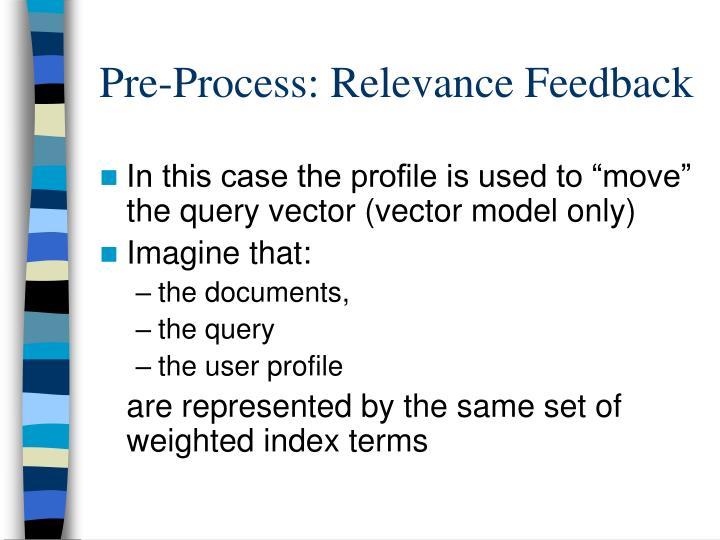 Pre-Process: Relevance Feedback
