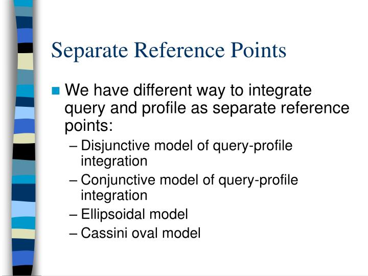 Separate Reference Points