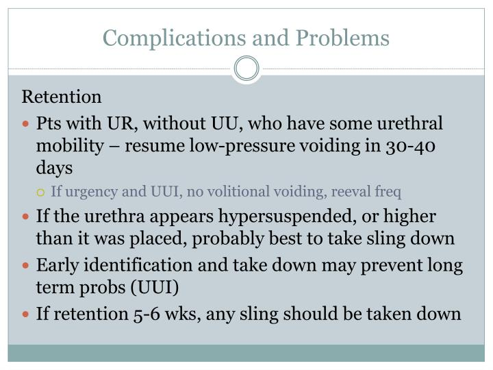 Complications and Problems