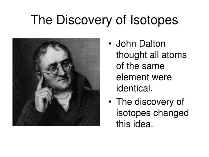 The Discovery of Isotopes