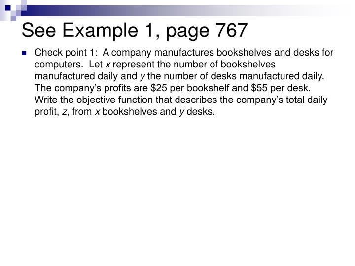 See Example 1, page 767