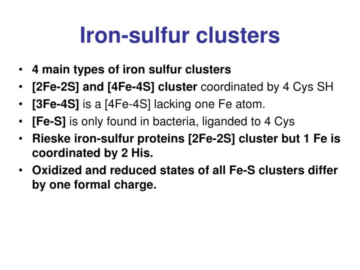 Iron-sulfur clusters