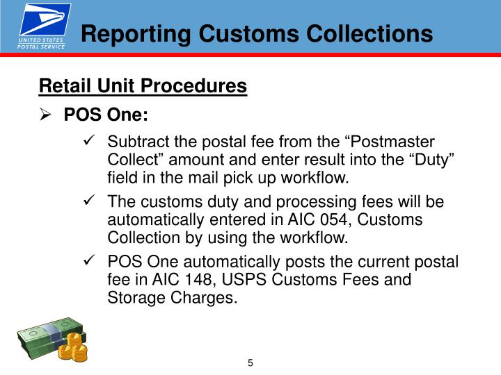 Reporting Customs Collections
