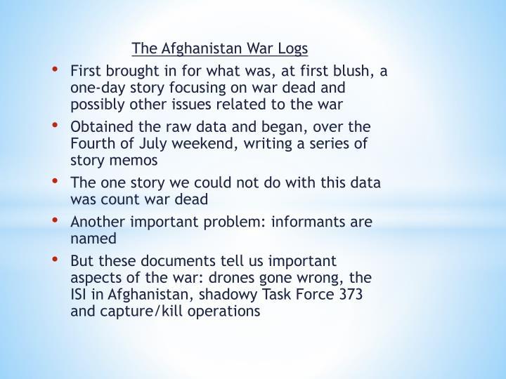 The Afghanistan War Logs