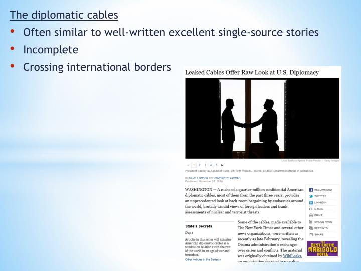 The diplomatic cables