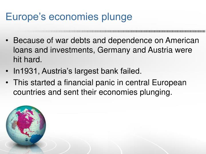 Europe's economies plunge