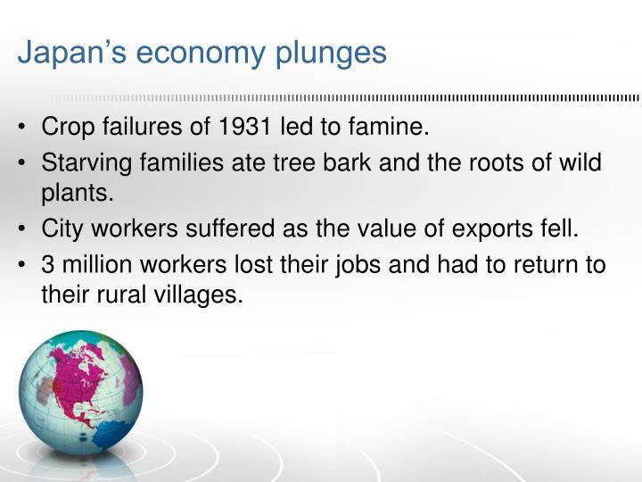 Japan's economy plunges