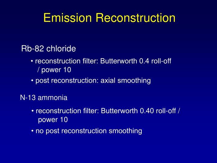 Emission Reconstruction