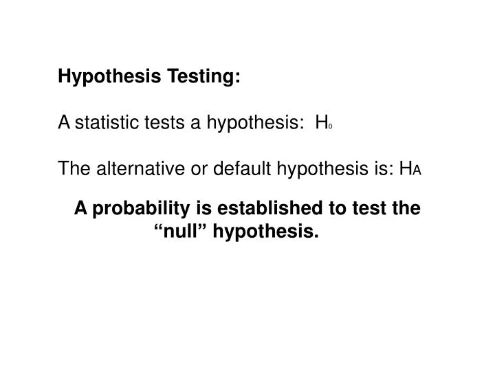 Hypothesis Testing: