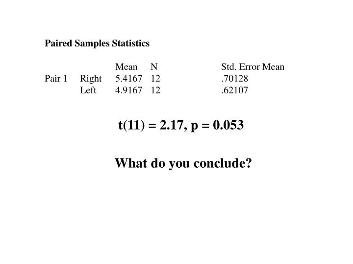 Paired Samples Statistics