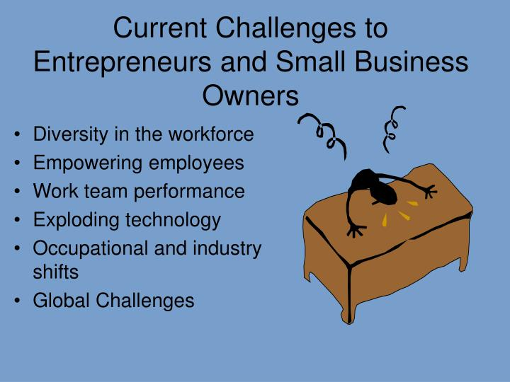 Current Challenges to Entrepreneurs and Small Business Owners