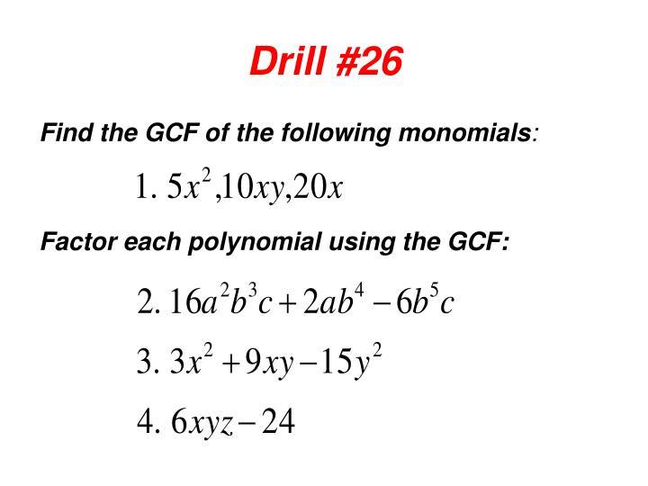 Drill #26